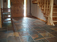 Foyer with China Slate Floor