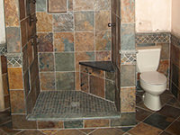 Slate Bathroom Shower Stall