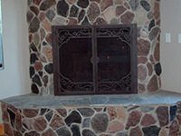 Split Granite Fireplace