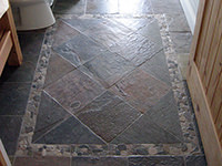 Indian Slate Bathroom Floor