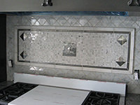 Cut Marble Backsplash