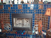 Ceramic Tiled Fire Place