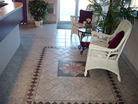 Ceramic Tiled Floor with Mosaic Design II