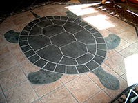 "Mosaic ""Turtle"" Floor Design (front)"