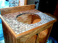 Bathroom Vanity Top with Custom Stone Work