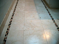 Marble Floor with Cut Marble Deco Stripes