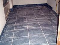 Tiled Floor and Trim (shown pre-acid washed)